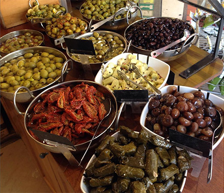 A wide selection of deli items and tapas Southville Deli